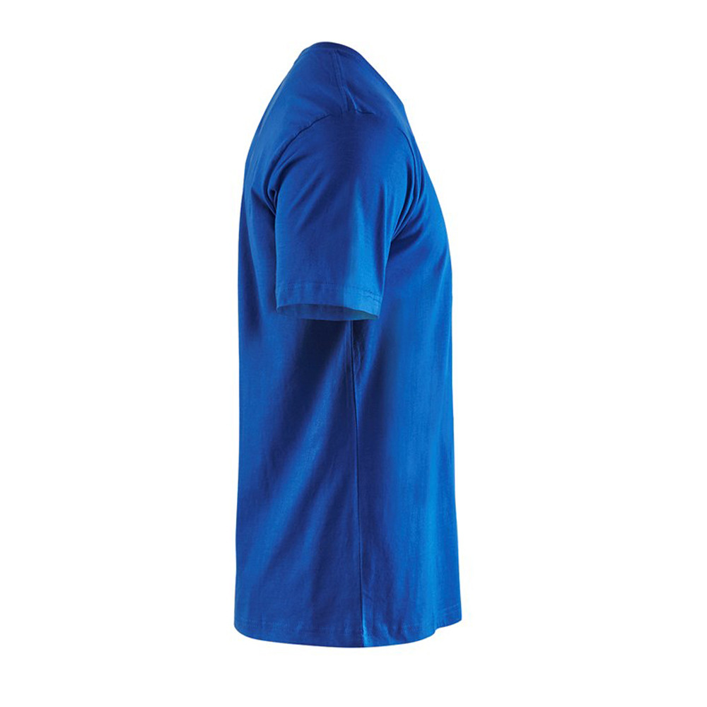 T-shirt Blaklader col rond Homme 100% coton - T-shirt Blaklader Col rond Homme 100% coton bleu roi côté