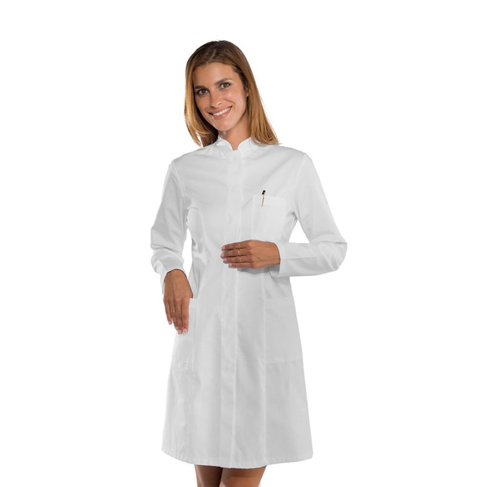 Blouse blanche médicale femme Isacco Camice Catalina manches longues - Blanc