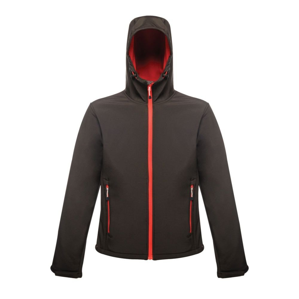 Veste imprimable à capuche Softshell Regatta Great Outdoors Stand Out ARLEY II - Noir / rouge