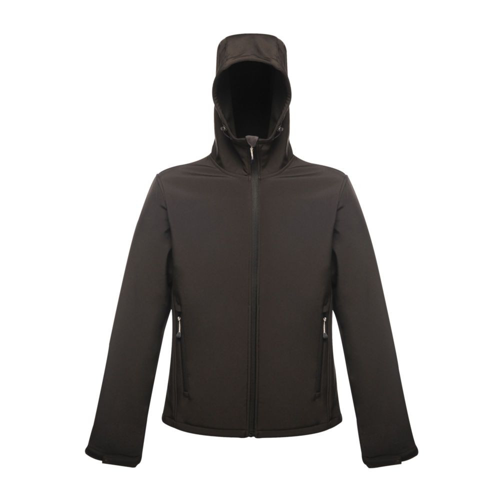 Veste imprimable à capuche Softshell Regatta Great Outdoors Stand Out ARLEY II - Noir