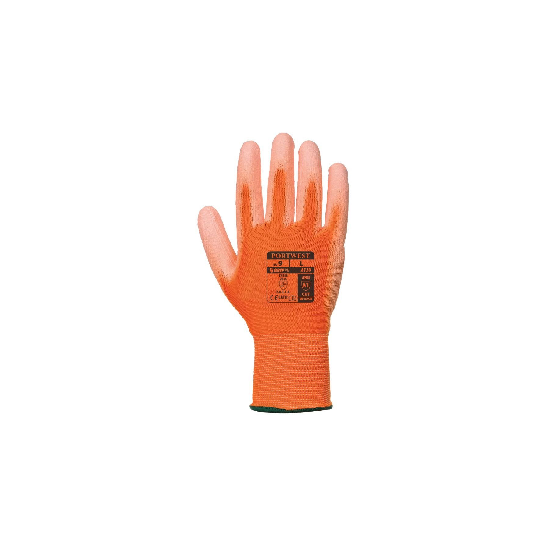 Gants nylon Portwest enduits PU A120 - Orange