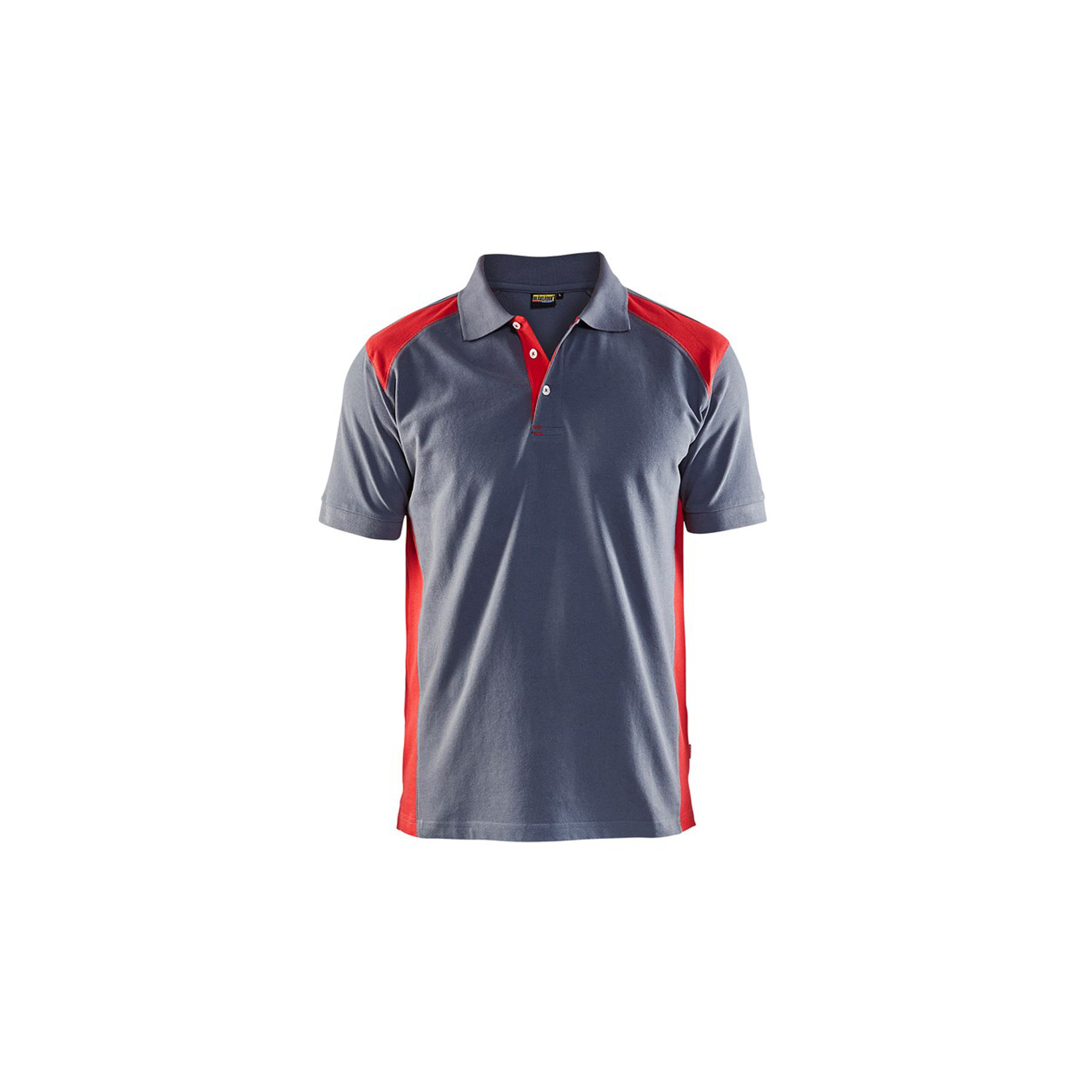 Polo Blaklader maille piqué Homme - Gris Epaule Rouge