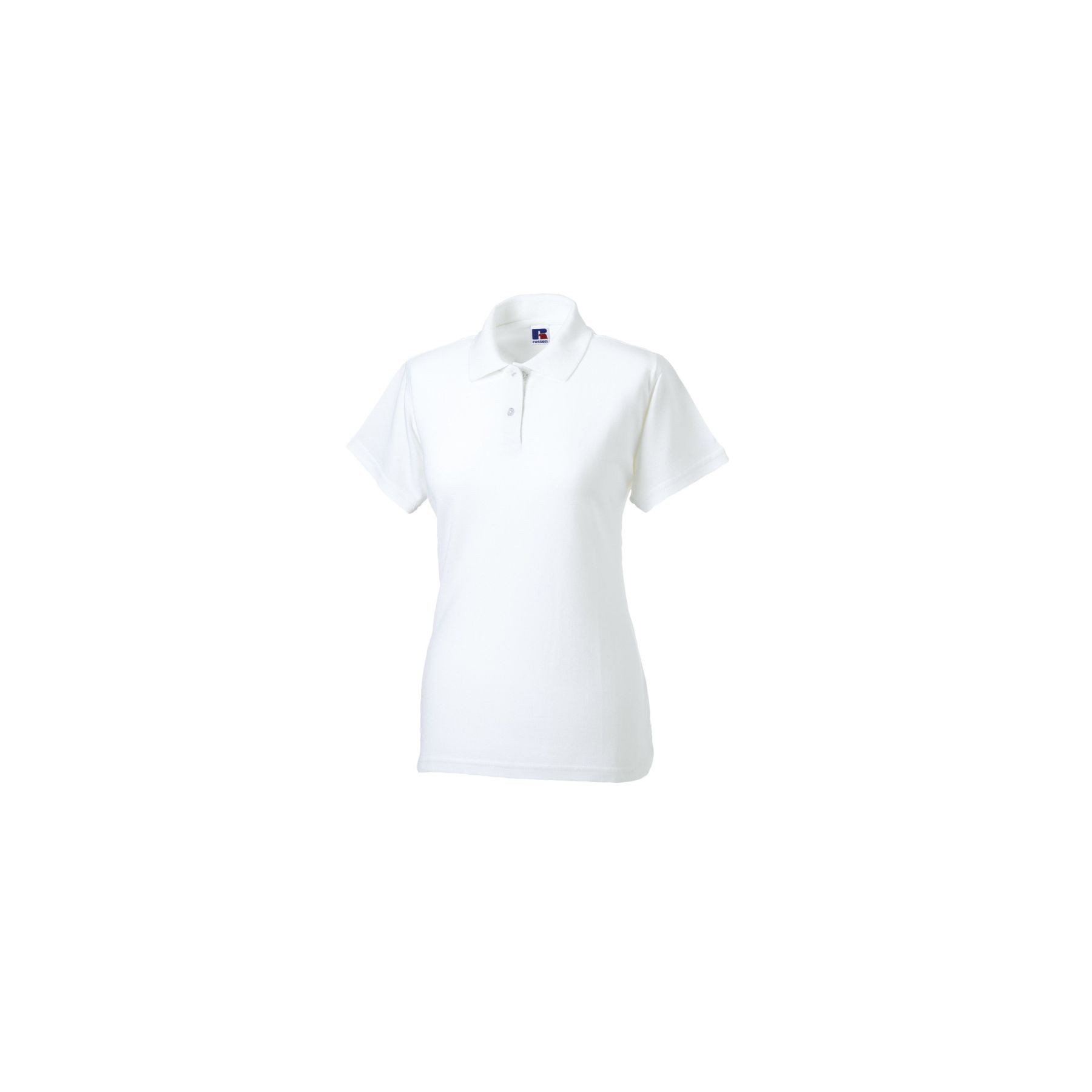Polo Femme Russell Maille Piquée - blanc