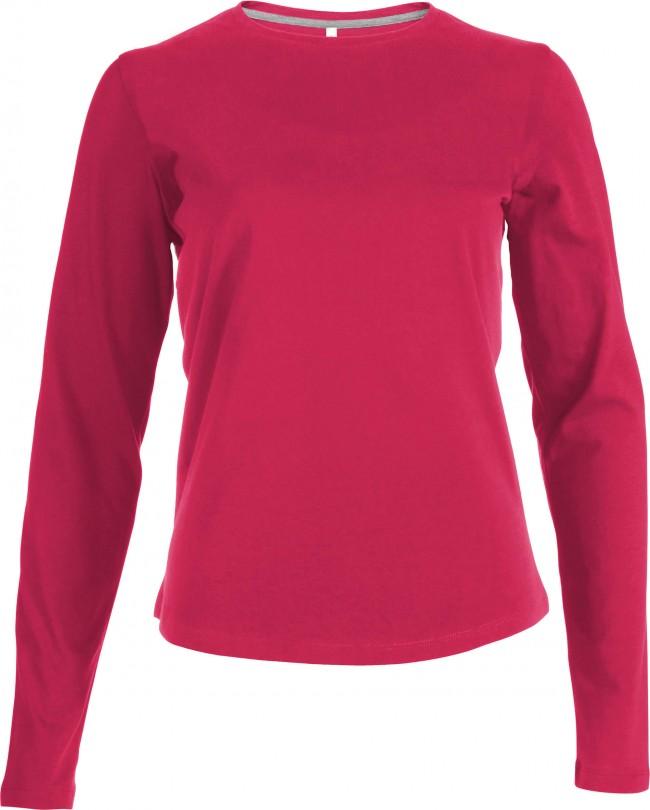 2537957f845 femme Tee Coton longues shirt Shirt coton tee bio Femme manches q5q4wrX