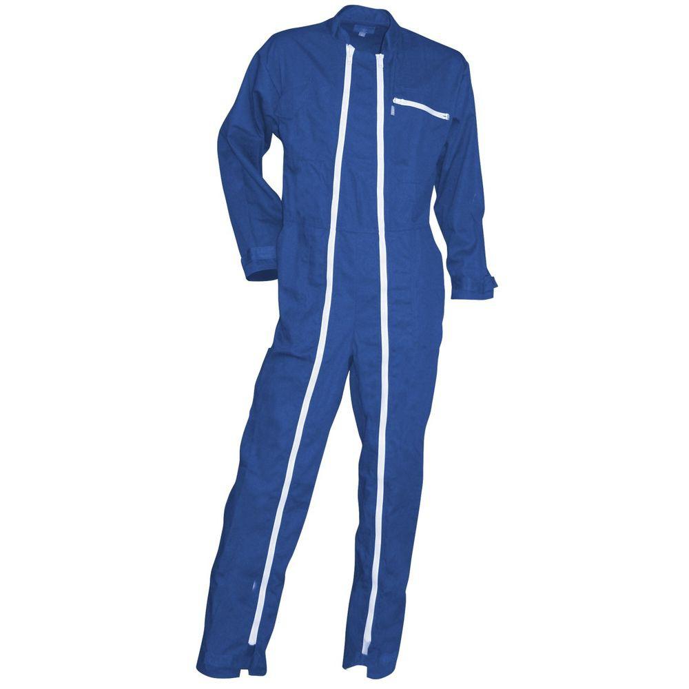 Combinaison de travail double zip LMA Crocq - Bleu