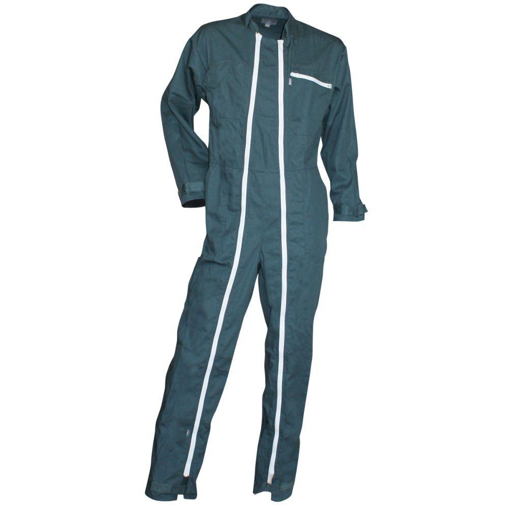 Combinaison de travail double zip Verte Homme FUSIBLE LMA - Vert foncé