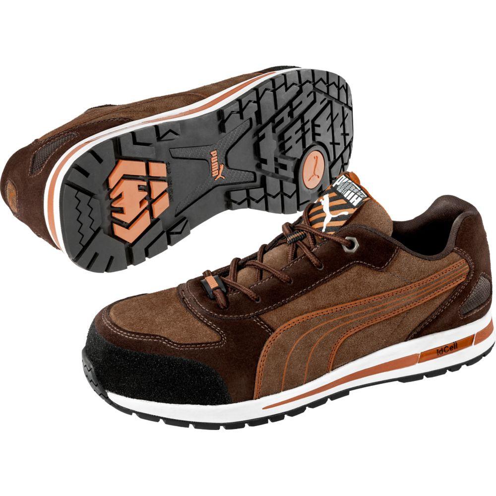 Chaussure de sécurité basse Puma 100% non métallique Barani Low S1P SRC - Marron