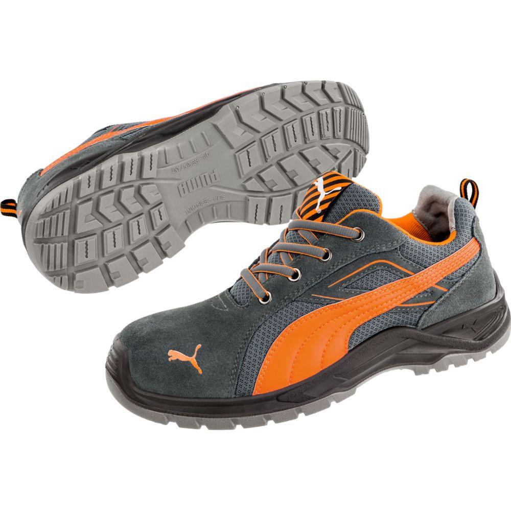 Chaussure de sécurité basse Puma Omni Orange Low S1P SRC - Gris / Orange