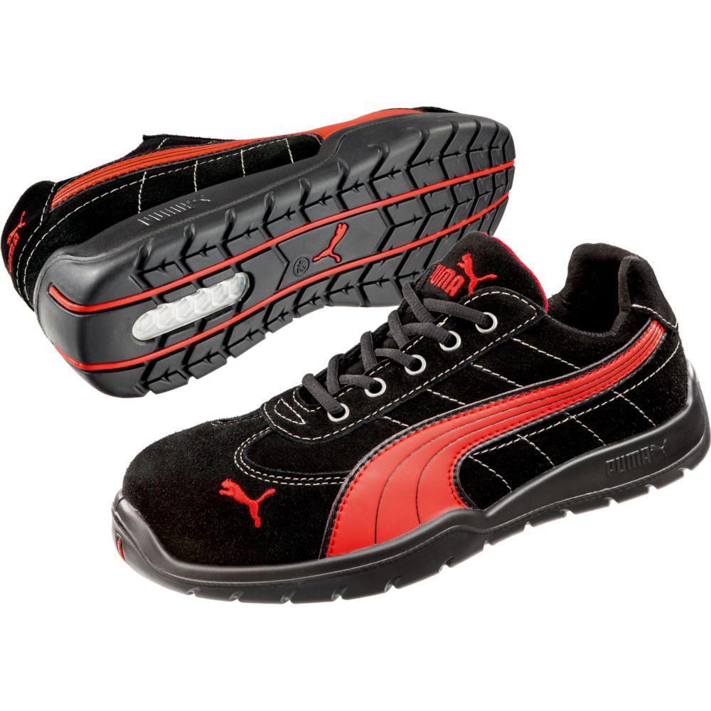 Chaussure de sécurité basse Puma Silverstone Low S1P SRC - Noir / Rouge