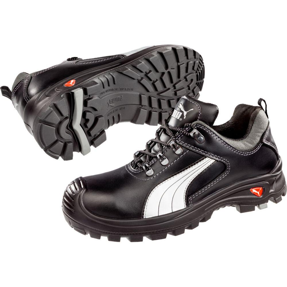 Chaussures de sécurité basses Puma Teide Low S2 SRC - Noir / Blanc