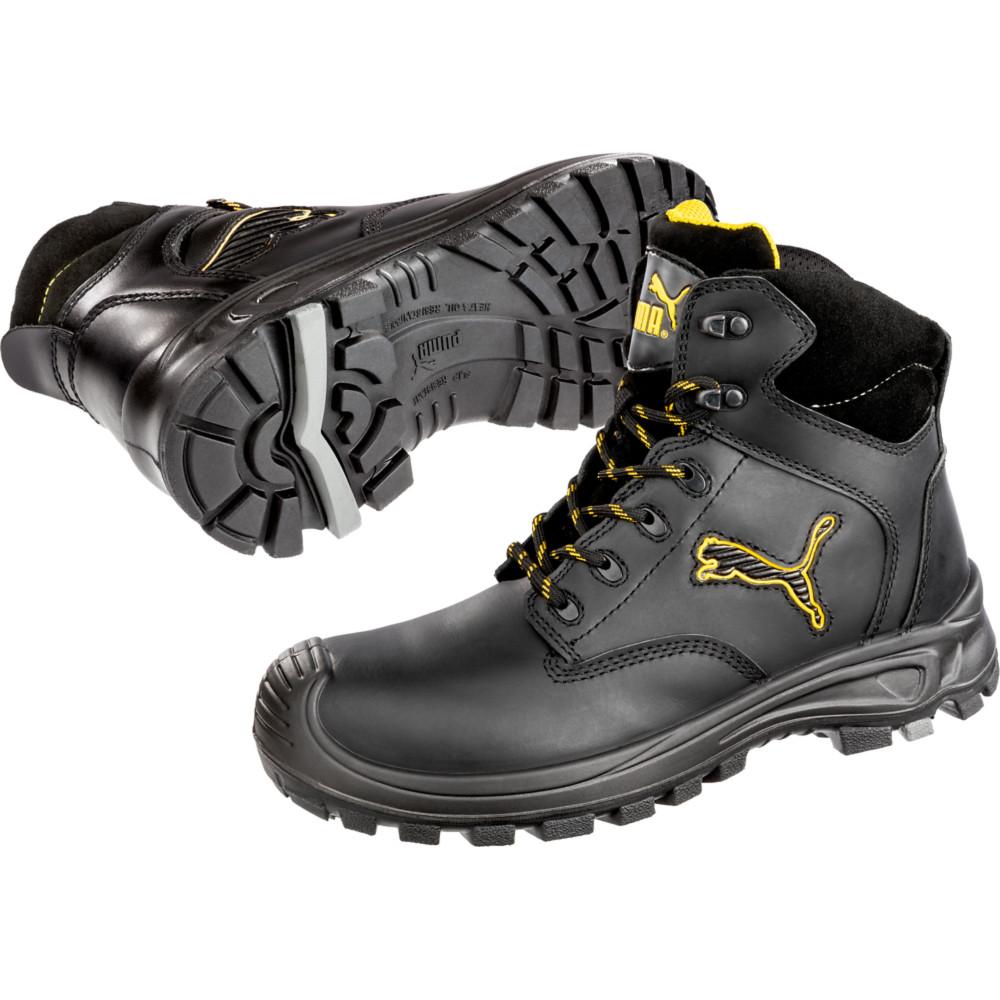 Chaussures de sécurité montante Puma Borneo Black Mid S3 SRC - Noir