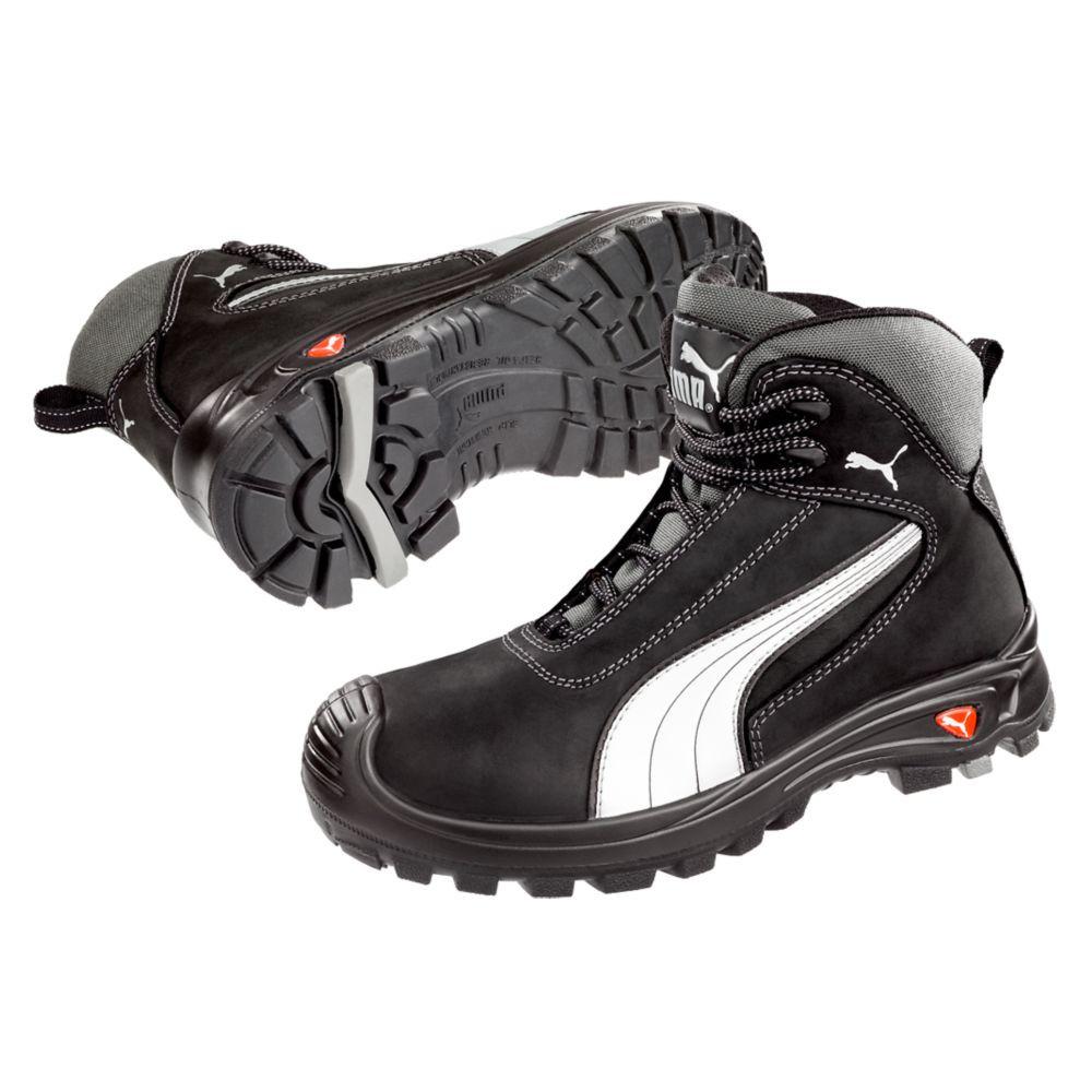 f6dd8b2b16 ... Chaussure de sécurité montante Puma Cascades Mid 100% non métallique S3  SRC - Noir ...