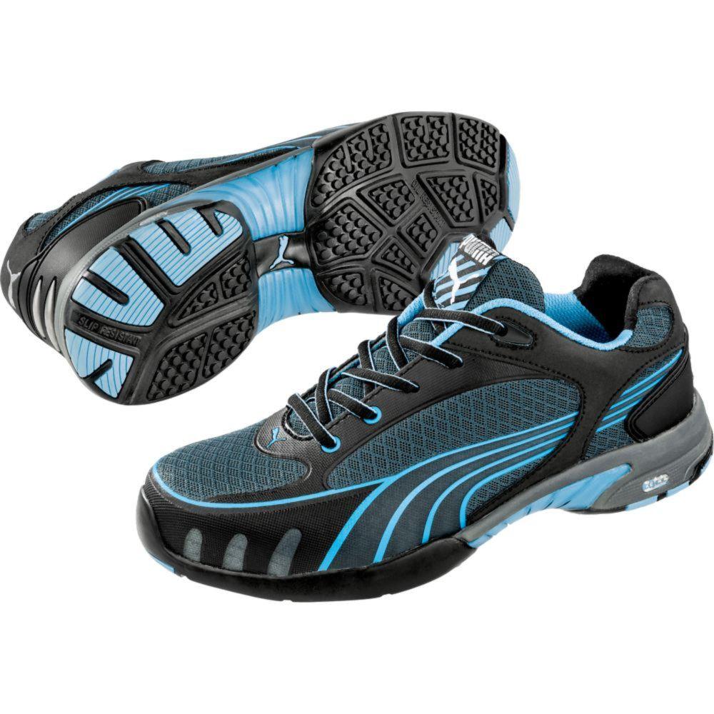 Baskets de sécurité basses femme Puma Fuse Motion Blue S1 HRO SRC - Noir / Bleu