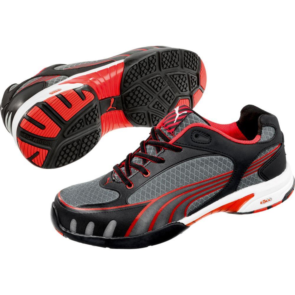 Baskets de sécurité basses femme Puma Fuse Motion Red S1 HRO SRC - Gris / Rouge