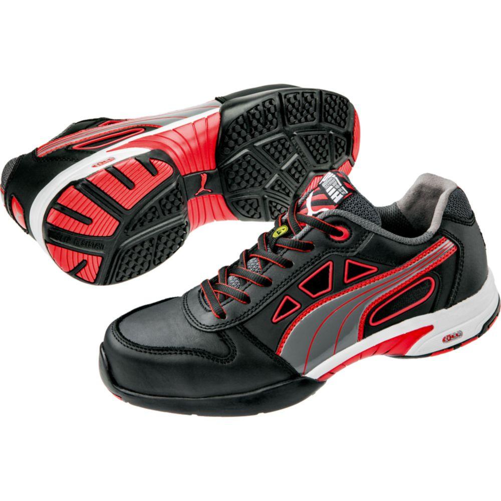 Baskets de sécurité basses femme Puma Stream Red S1 ESD HRO SRC - Noir / Rouge