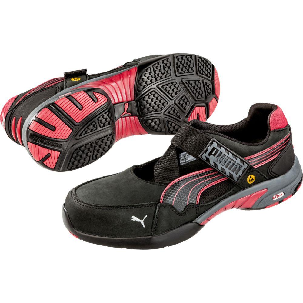 Baskets de sécurité basses femme Spring S1 ESD HRO SRC - Noir / Rouge