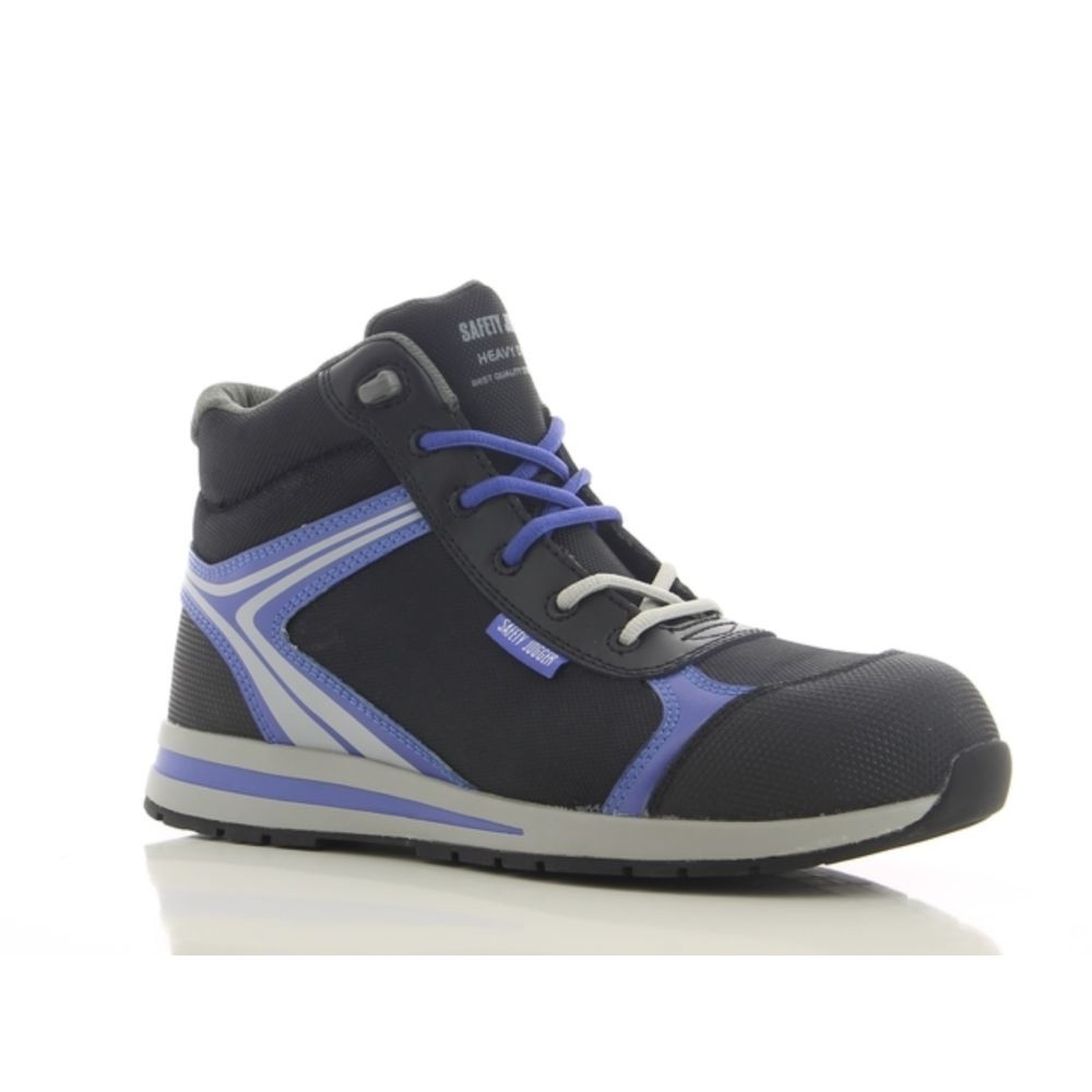 Baskets de sécurité montantes Safety Jogger Toptrunner S1P HRO 100% non métalliques - Noir / Bleu