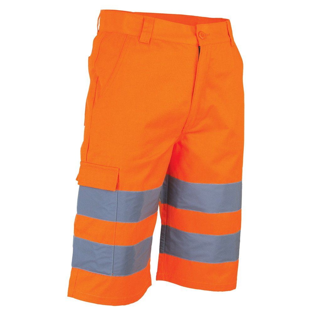 Bermuda haute visibilité LMA PHARE - Orange Fluo
