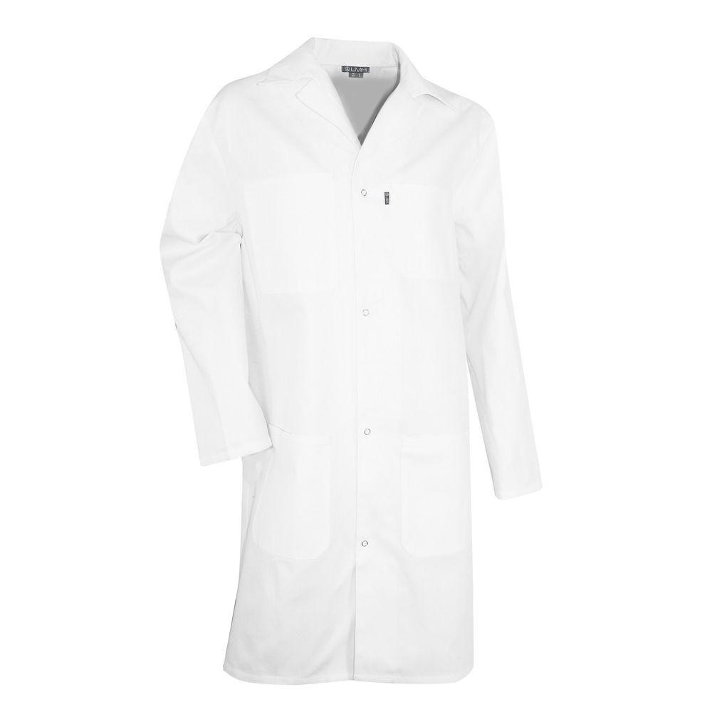 Blouse blanche de laboratoire 100% coton PALETTE LMA - Blouse Blanche de laboratoire 100% coton PALETTE LMA