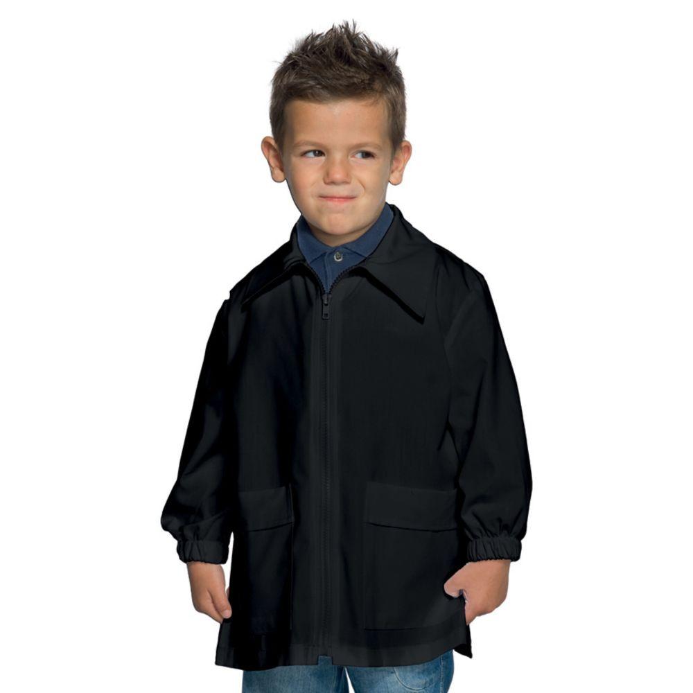Blouse enfant Isacco noire zippée 6 à 11ans - Noir