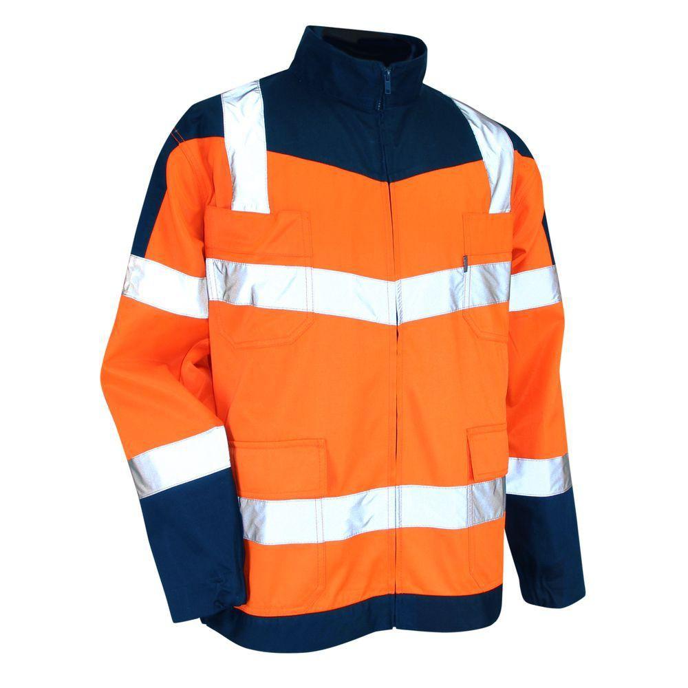 Blouson bicolore haute visibilité LMA Urgence - Blouson bicolore haute visibilité zéro métal LMA Urgence Orange