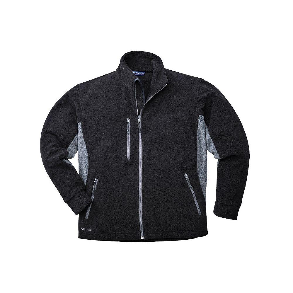 Blouson polaire Portwest Bicolore Texo - Noir poches grises