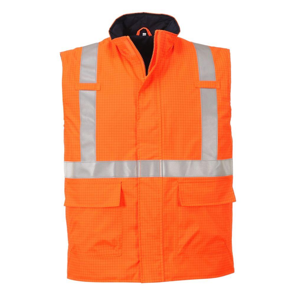 Bodywarmer haute visibilité antistatique Portwest Bizflame - Orange
