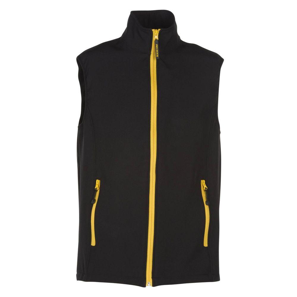 Bodywarmer softshell Penduick Gibraltar Bicolore - Bodywarmer softshell 2 couches Penduick Gibraltar noir jaune