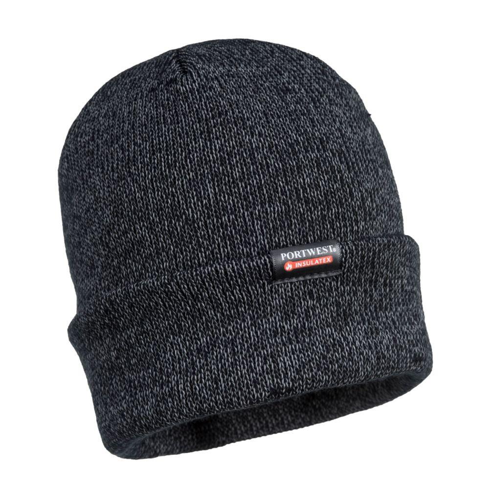 Bonnet tricoté réfléchissant Portwest - Noir