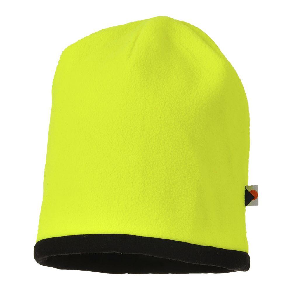 Bonnet haute visibilité réversible Portwest - Jaune / Noir