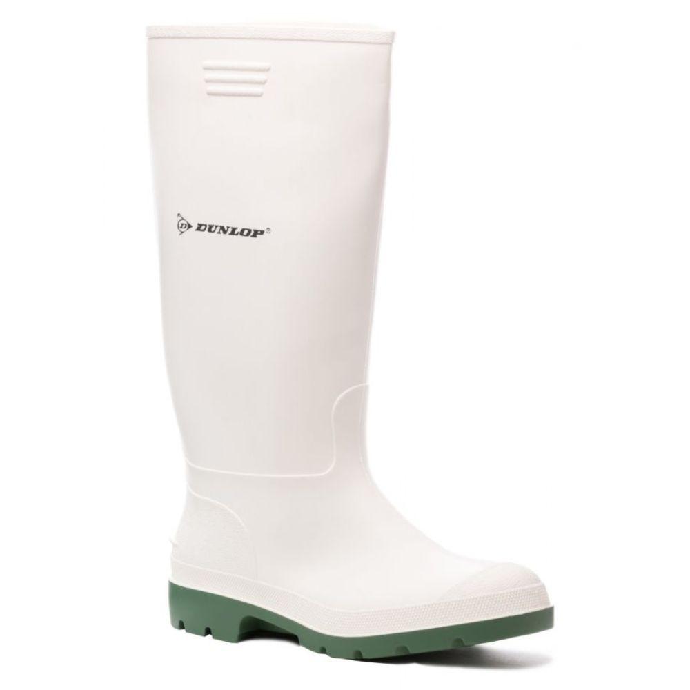 Bottes imperméable Dunlop HYGRADE non sécurisées - Blanc / Vert
