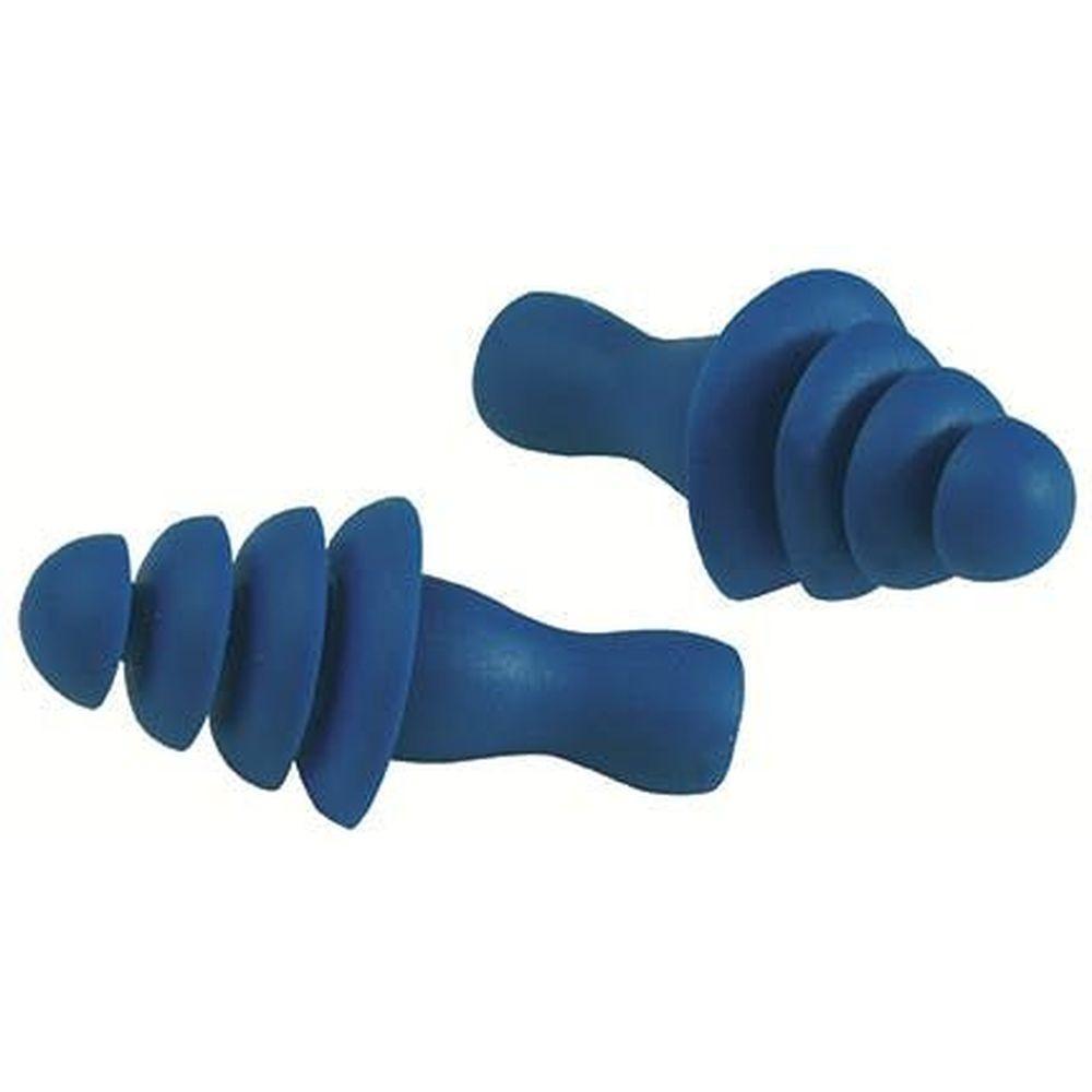 Bouchons anti-bruit avec bille acier Earline 26dB (Boîte de 50 paires) - Bleu