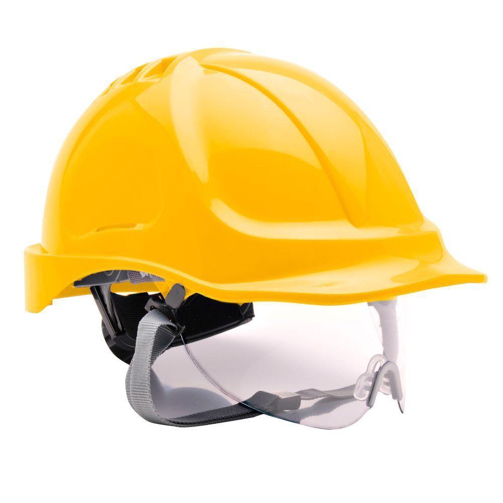 Casque de chantier ENDURANCE VISION Portwest - Jaune