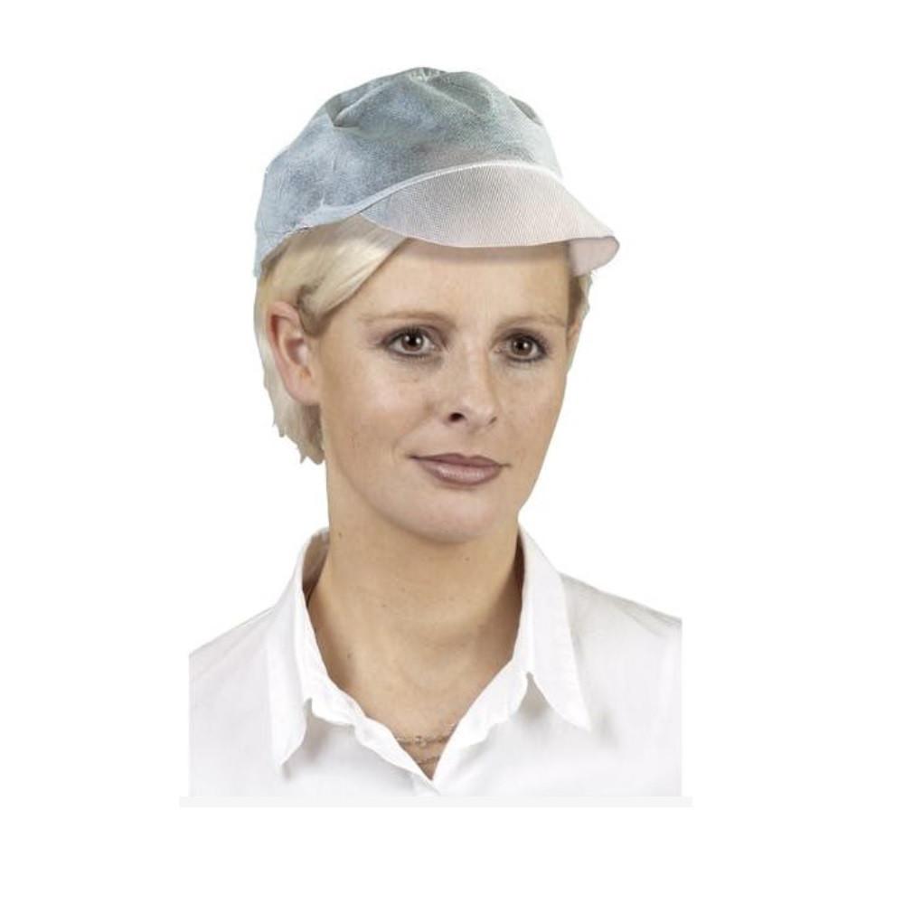 Casquette restauration jetable Tidy Professional (Lot de 1000) - Blanc