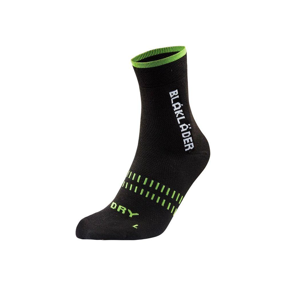 Chaussettes de travail Blaklader été/mi-saison Dry (lot de 2 paires) - Noir / Vert