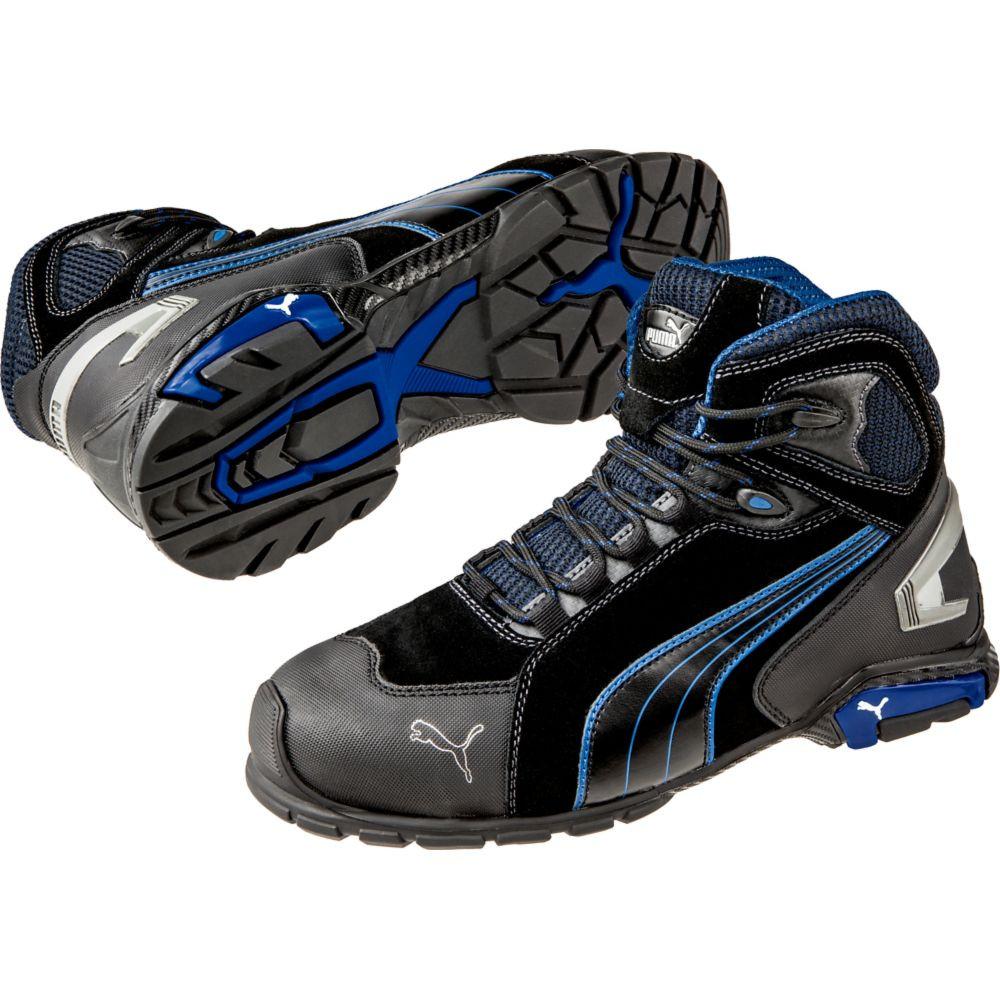 Chaussure de sécurité montante Puma Rio Black Mid S3 SRC - Noir / Bleu