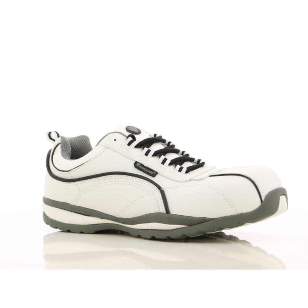 Chaussures de sécurité Maxguard Levi S3 100% sans métal - Blanc / Noir