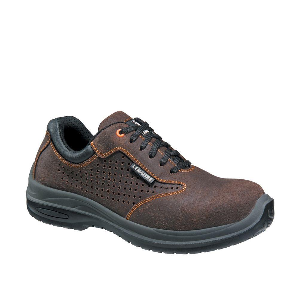Chaussure de sécurité basse Lemaitre RAFALE Aéré S1P SRC 100% non métallique - Marron