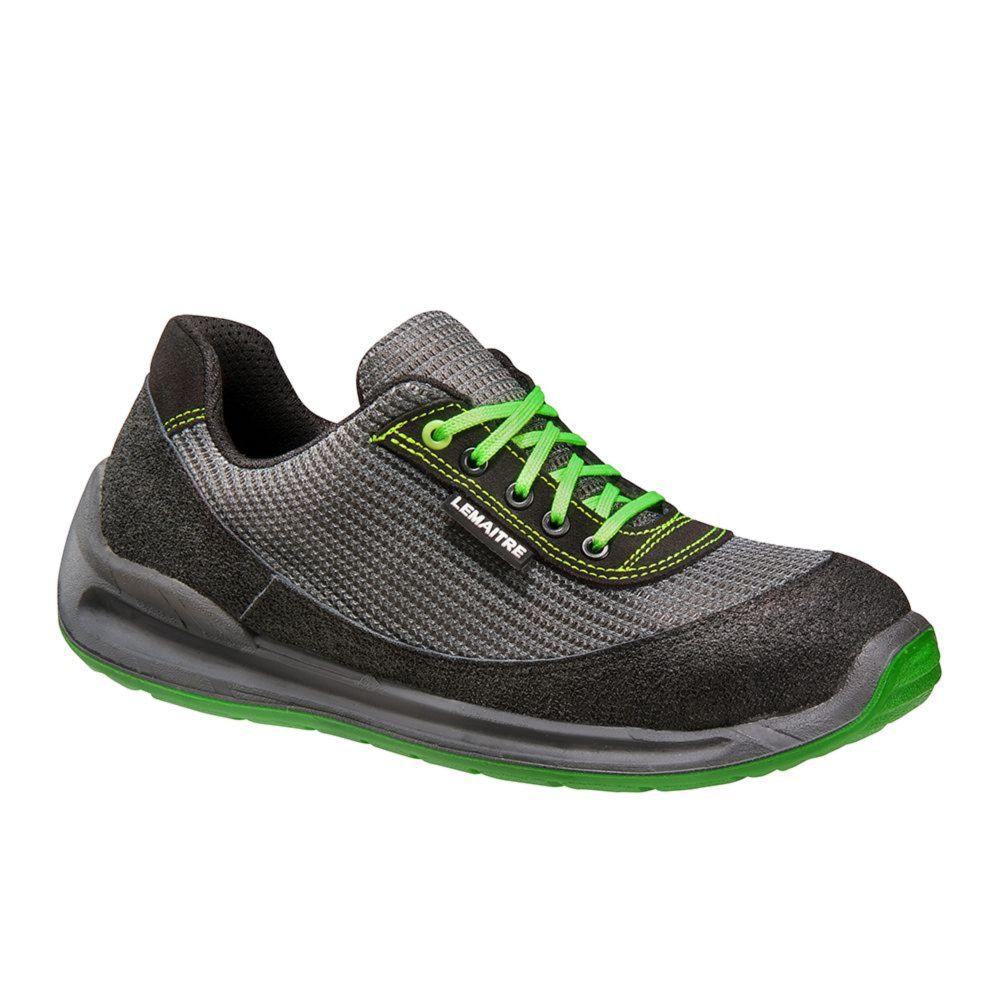 Chaussure de sécurité basse Lemaitre S1 Kiwi SRC - Noir / Vert