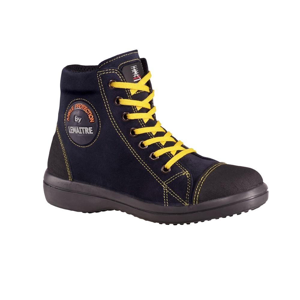Chaussure de sécurité haute femme Lemaitre VITAMINE S2 SRC Marine - Bleu Marine
