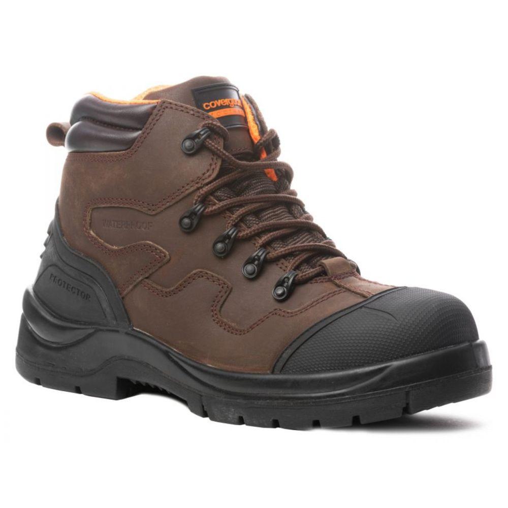 Chaussure de sécurité imperméable sans métal Coverguard Terralite S3 SRC WR HI HRO - Marron