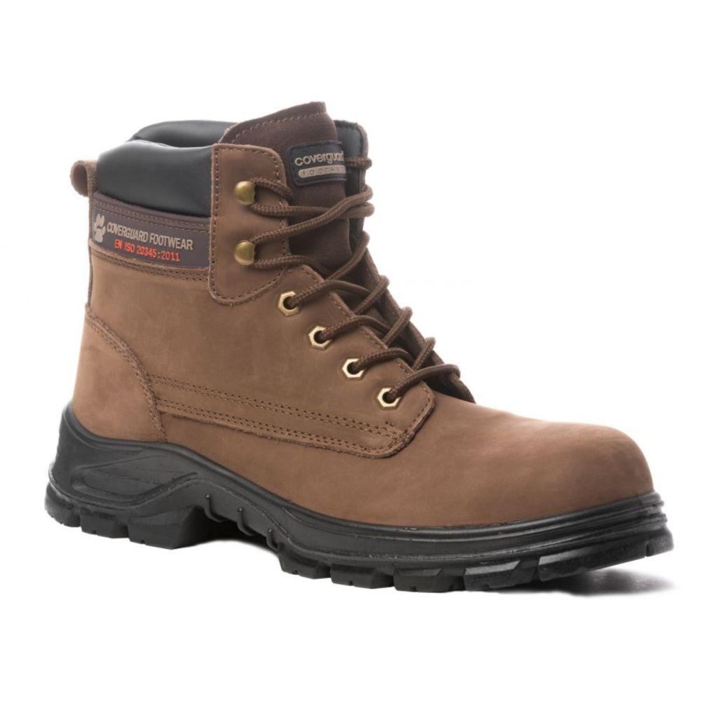 9294045699a60 ... Chaussure de sécurité montante Coverguard Marble S3 SRC - Marron ...