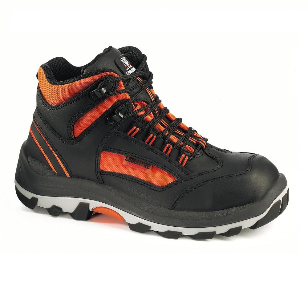 Chaussure de sécurité montante Lemaitre TANGO S3 SRC - Noir / Orange