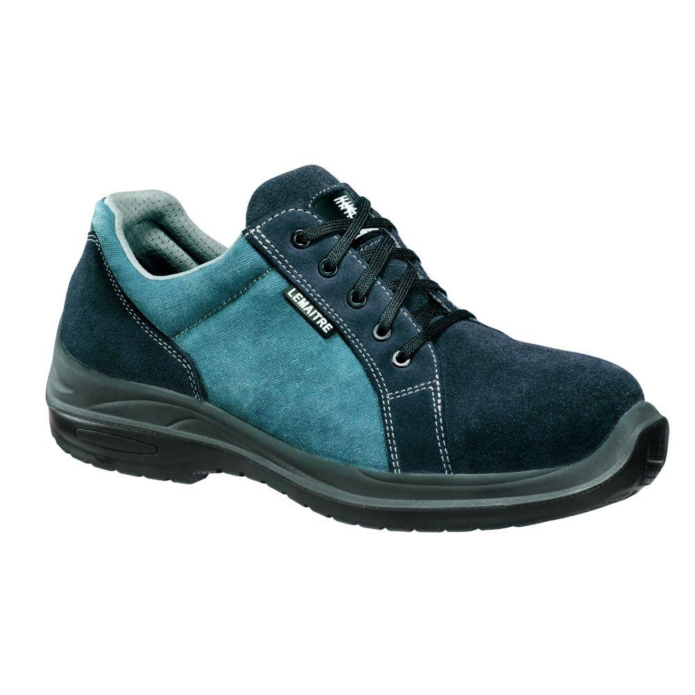 Chaussures de sécurité basses 100% non métalliques Lemaitre Wave S1P SRC - Bleu