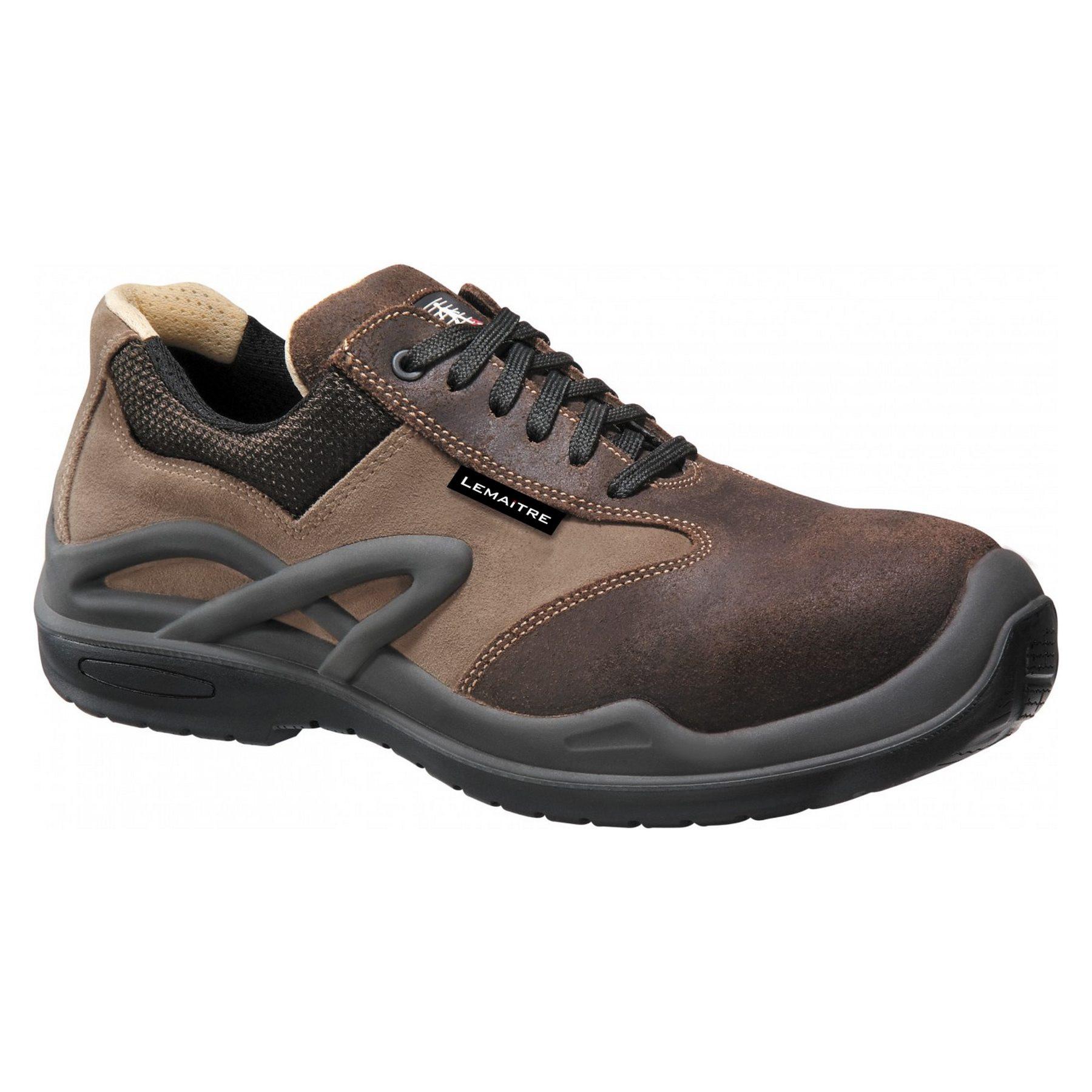 Chaussures de sécurité basses Lemaitre Morzine S3 CI SRC 100% non métalliques - Marron