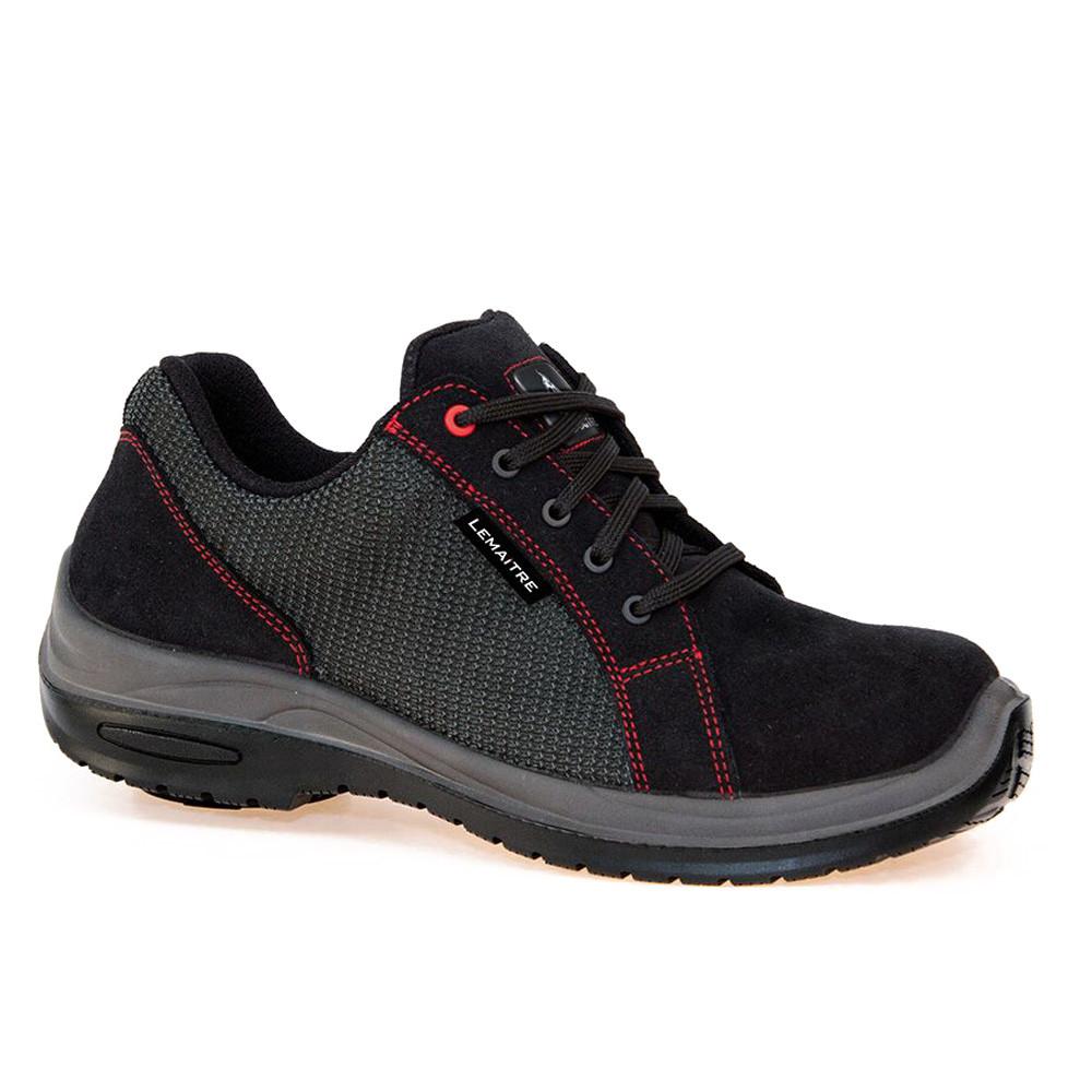 Chaussures de sécurité basses Lemaitre Roller S1P SRC 100% non métallique - Noir / Rouge