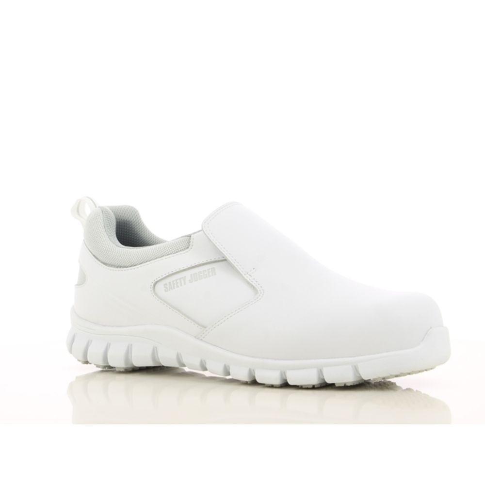 Chaussures de sécurité cuisine ultra légère Safety Jogger BRIO S2 ESD SRC - Blanc