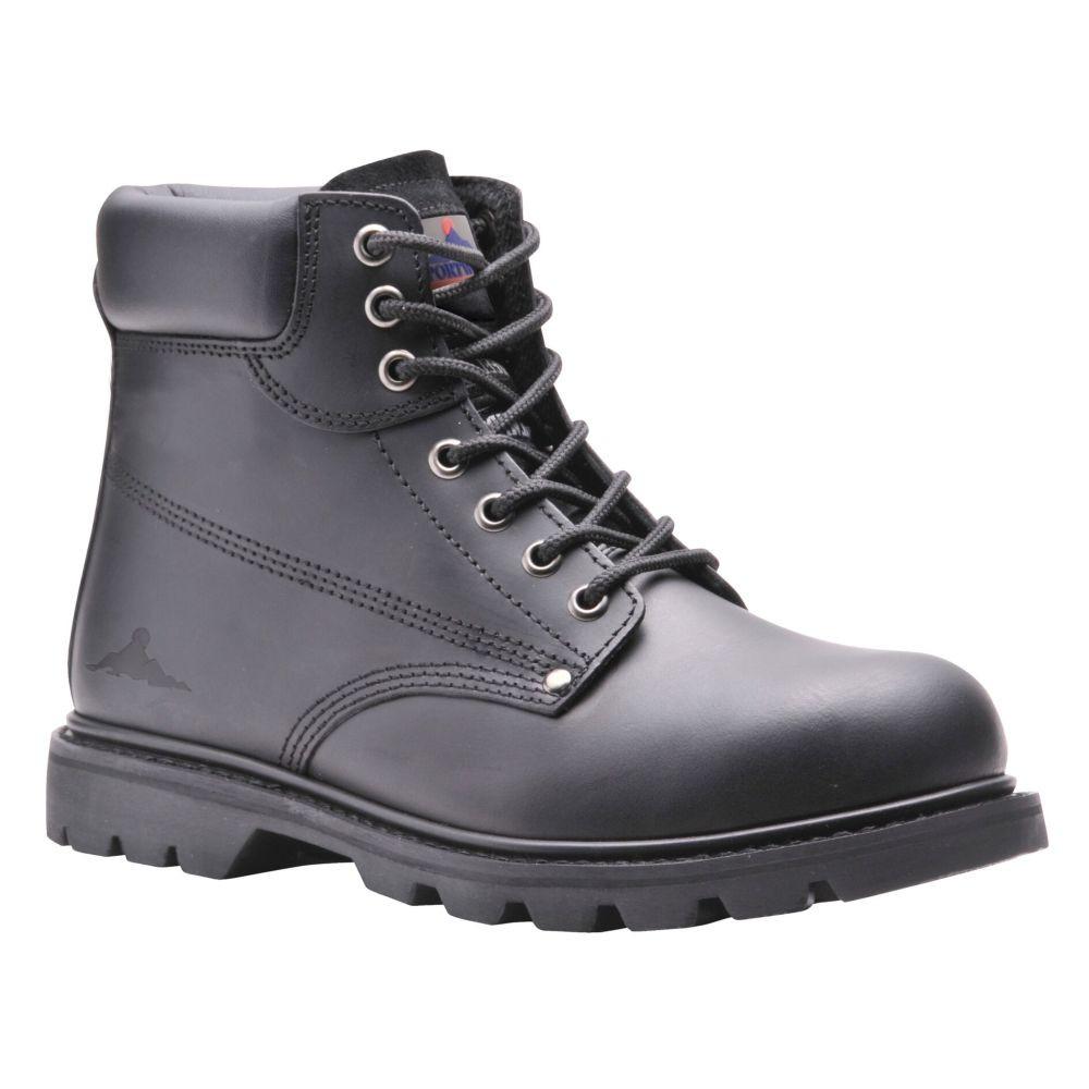 Chaussures de sécurité Brodequin Portwest Goodyear cousu SBP HRO - Noir