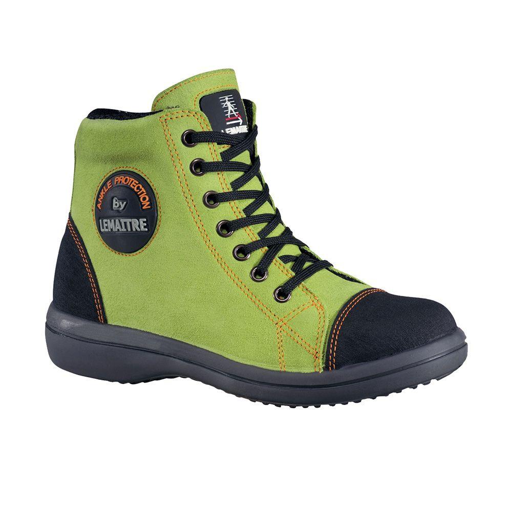 Chaussure de sécurité haute femme Lemaitre Vitamine S2 SRC - Vert