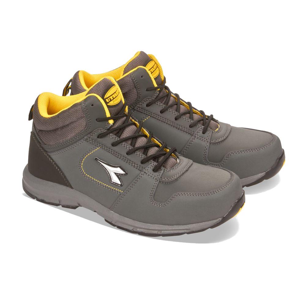 Chaussures de sécurité hautes Diadora D-BRAVE HI S3 SRC HRO 100% sans métal - Gris